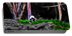 Walk In Magical Land Of The Black And White Ruffed Lemur Portable Battery Charger