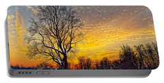 Magical Winter Sunset Portable Battery Charger