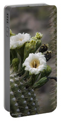 Portable Battery Charger featuring the photograph Magnificant Bloom Of The Saguaro by Lucinda Walter