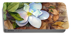 Portable Battery Charger featuring the painting Magnolia by Bonnie Rinier