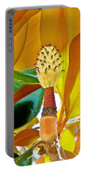 Portable Battery Charger featuring the photograph Magnolia Flower by Olga Hamilton