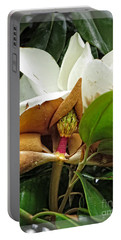 Magnolia Flowers - Flower Of Perseverance Portable Battery Charger