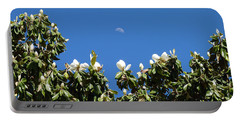 Portable Battery Charger featuring the photograph Magnolia Moon by Meghan at FireBonnet Art