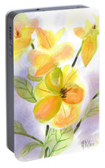 Portable Battery Charger featuring the painting Magnolias Gentle by Kip DeVore