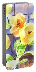 Portable Battery Charger featuring the painting Magnolias by Kip DeVore