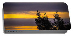 Magpies At Sunrise Portable Battery Charger