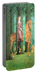 Magritte's The Blank Signature Portable Battery Charger by Cora Wandel