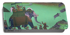 Maharana Sarup Singh Of Udaipur Shooting Boar From Elephant-back, Rajasthan, 1855  Portable Battery Charger