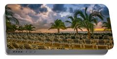 Mahogany Bay Beach-roatan-honduras Portable Battery Charger