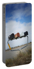 Portable Battery Charger featuring the photograph Mailboxes by Erika Weber