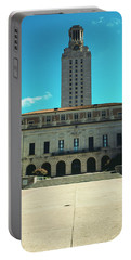 Main Building Of University Of Texas Portable Battery Charger by Panoramic Images