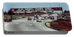 Main Gate 7th Inf. Div Fort Ord Army Base Monterey Calif. 1984 Pat Hathaway Photo Portable Battery Charger
