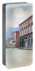 Main Street In Gosport Portable Battery Charger by Katherine Miller