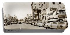 Main Street Salinas California 1941 Portable Battery Charger