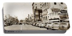 Main Street Salinas California 1941 Portable Battery Charger