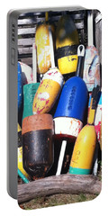 Portable Battery Charger featuring the photograph Maine Lobster Buoys by Denyse Duhaime