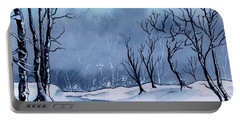 Maine Snowy Woods Portable Battery Charger