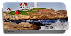 Maine's Nubble Light Portable Battery Charger by Mitchell R Grosky