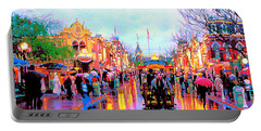 Portable Battery Charger featuring the photograph Mainstreet Disneyland by David Lawson