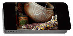 Pottery And Maize Indian Corn Still Life In New Orleans Louisiana Portable Battery Charger