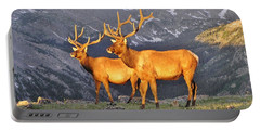 Majestic Elk Portable Battery Charger by Diane Alexander