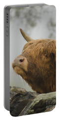 Majestic Highland Cow Portable Battery Charger