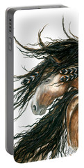Majestic Pinto Horse 80 Portable Battery Charger by AmyLyn Bihrle
