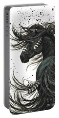 Friesian Horse Portable Battery Chargers