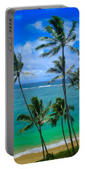Majestic Palm Trees Portable Battery Charger