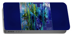 Portable Battery Charger featuring the painting Make A Splash With Abstract  by Kimberlee Baxter