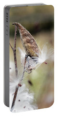Portable Battery Charger featuring the photograph Make A Wish - Milkweed In Autumn by Brooke T Ryan