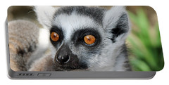 Portable Battery Charger featuring the photograph Malagasy Lemur by Sergey Lukashin