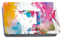 Malcolm X Watercolor Portable Battery Charger by Dan Sproul