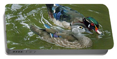 Male And Female Wood Ducks Portable Battery Charger