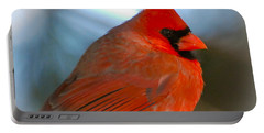 Male Cardinal  Portable Battery Charger by Kerri Farley