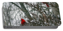 Male Cardinal Pair Portable Battery Charger