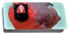 Male Cardinal Portrait Portable Battery Charger