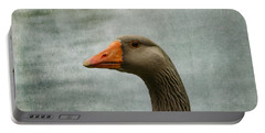 Male Graylag Goose Profile Portable Battery Charger