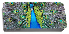 Male Peacock Portable Battery Charger by Cynthia Guinn