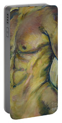 Nude Male Torso Portable Battery Charger