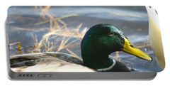 Portable Battery Charger featuring the photograph Mallard Anas Platyrhynchos by Neal Eslinger