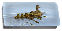 Mallard And Chicks  Portable Battery Charger by Chris Flees