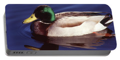 Mallard In The Mirror Portable Battery Charger