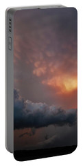 Mammatus At Sunset Portable Battery Charger by Ed Sweeney