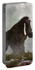 Mammoth In The Fog Portable Battery Charger