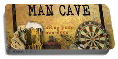 Man Cave-bring Your Own Beer Portable Battery Charger