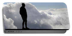 Man In The Clouds Portable Battery Charger