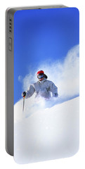 Man Skiing In Uinta Mountains Portable Battery Charger