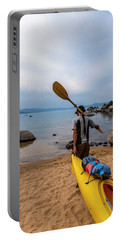 Man With A Paddle Over His Shoulder Portable Battery Charger