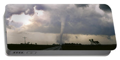 Portable Battery Charger featuring the photograph Manchester Tornado 5 Of 6 by Jason Politte